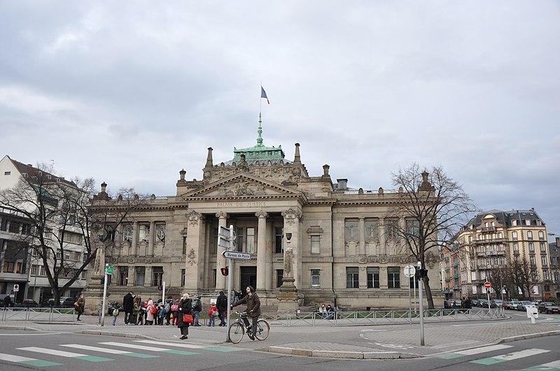 Photo du Monument Historique Palais de Justice situé à Strasbourg