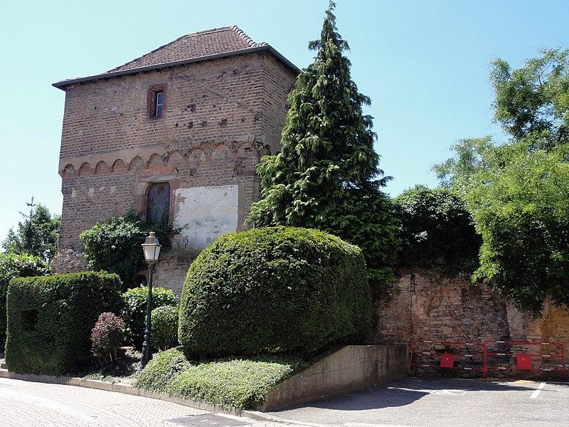 Photo du Monument Historique Tour des Bouchers situé à Lauterbourg