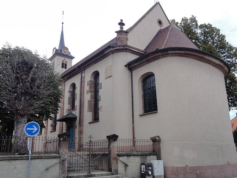 Photo du Monument Historique Eglise protestante situé à Schiltigheim