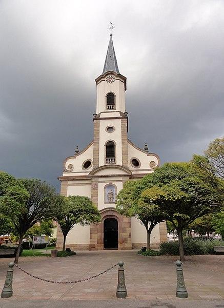 Photo du Monument Historique Eglise catholique Saint-Maurice situé à Fegersheim