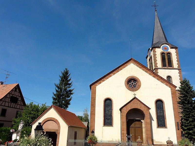 Photo du Monument Historique Eglise protestante situé à Obermodern-Zutzendorf
