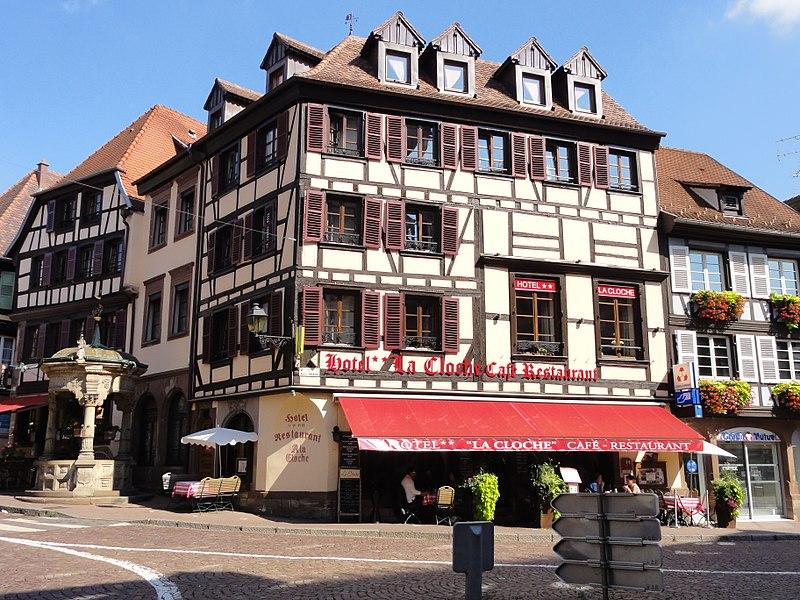 Photo du Monument Historique Hôtel-restaurant A la Cloche situé à Obernai