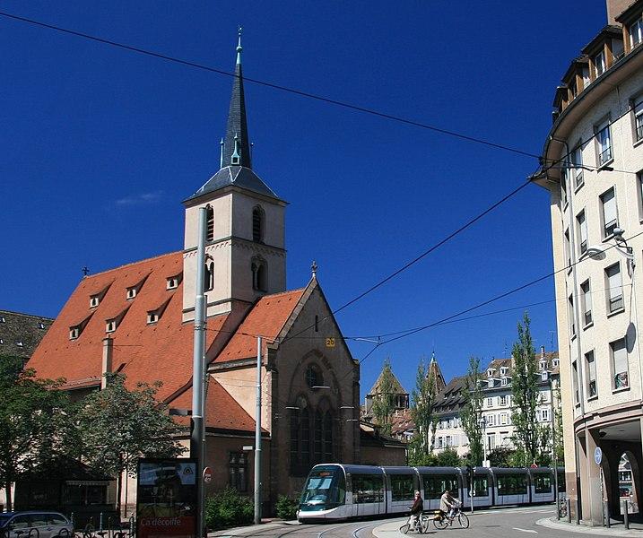Photo du Monument Historique Eglise protestante Saint-Nicolas situé à Strasbourg