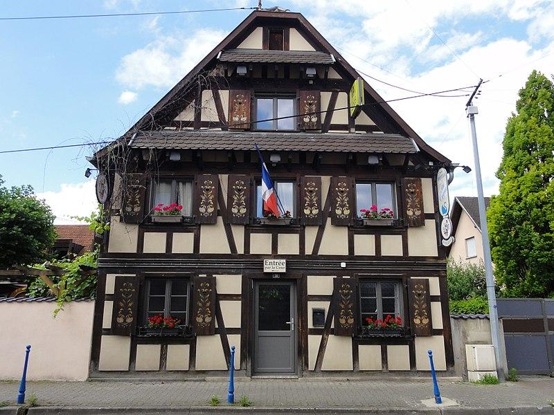 Photo du Monument Historique Maison puis Hôtel-restaurant Au Cygne situé à Eschau