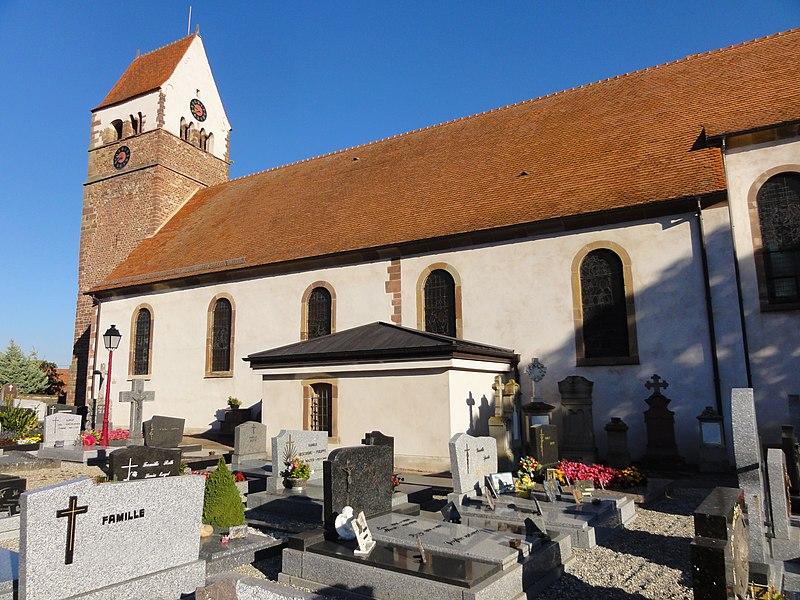 Photo du Monument Historique Eglise catholique Saint-Jean-Baptiste situé à Saessolsheim