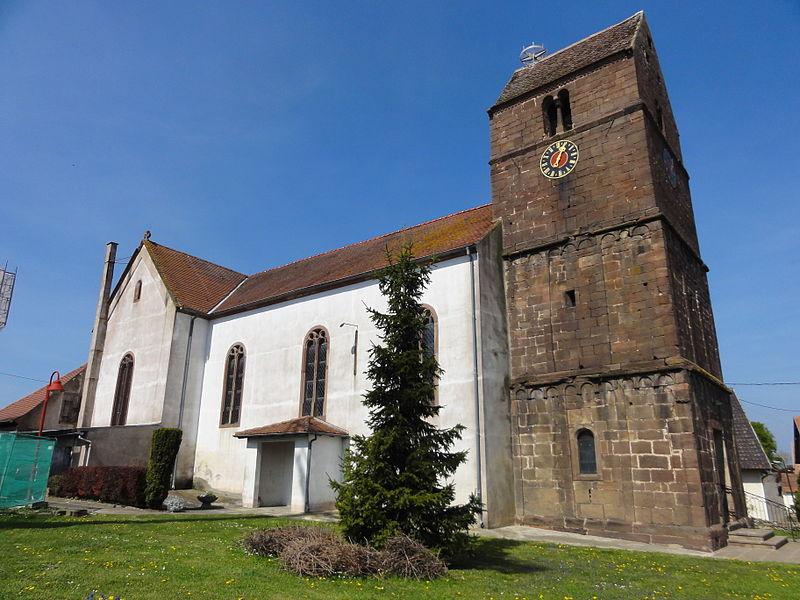 Photo du Monument Historique Eglise paroissiale Saints-Vincent-et-Anastase situé à Schwenheim