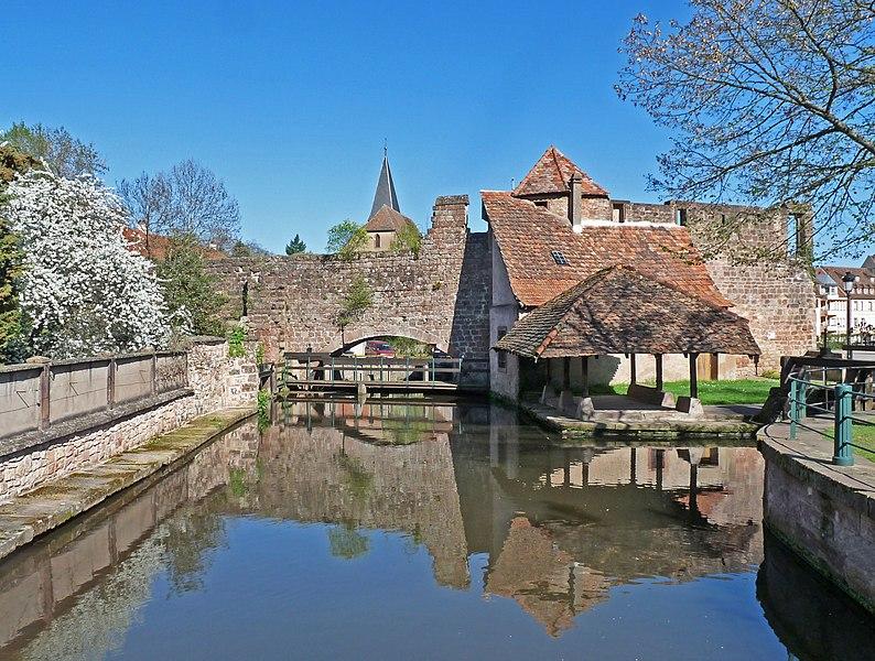 Photo du Monument Historique Canal de la Lauter situé à Wissembourg