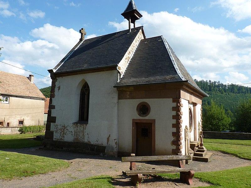 Photo du Monument Historique Ancienne église Saint-Pancrace et Saint-Cyriaque, actuelle chapelle du cimetière situé à Grendelbruch
