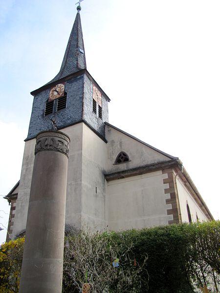 Photo du Monument Historique Eglise simultanée Saint-Etienne situé à Wangen