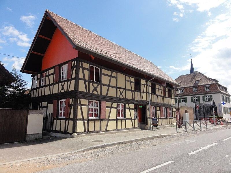 Photo du Monument Historique Maison en pan de bois situé à Fegersheim