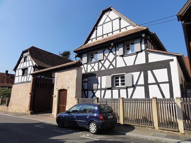 Photo du Monument Historique Ferme situé à Lampertheim
