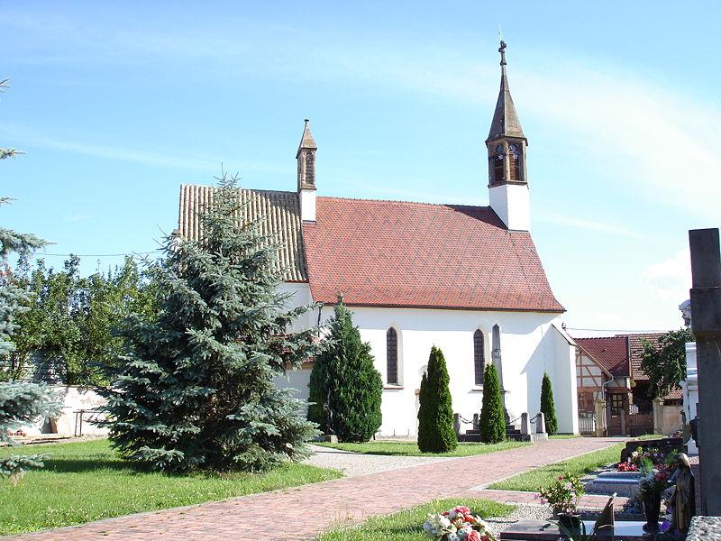 Photo du Monument Historique Chapelle Notre-Dame du Grasweg situé à Huttenheim