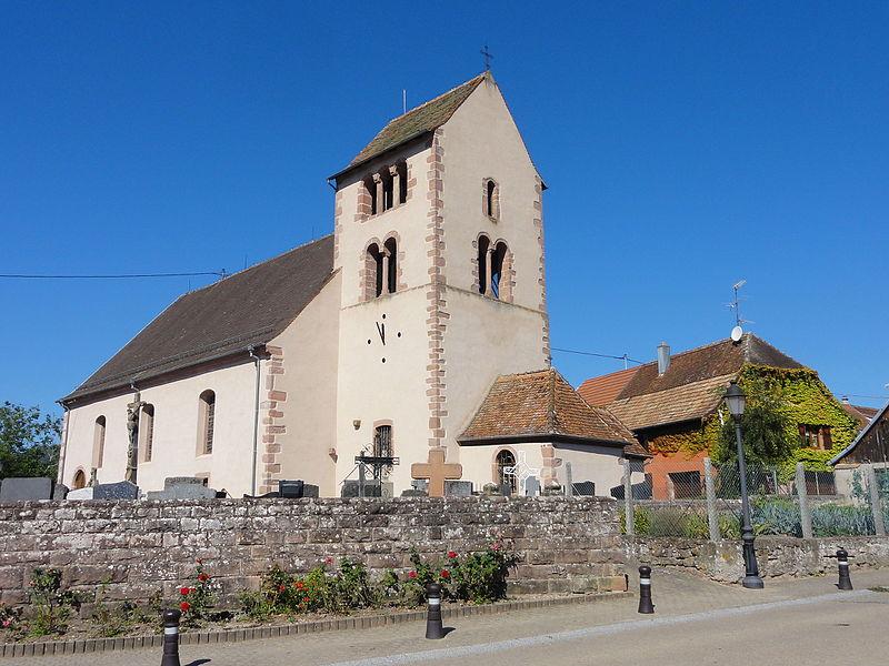 Photo du Monument Historique Eglise catholique Saint-Nicolas situé à Neuve-Eglise