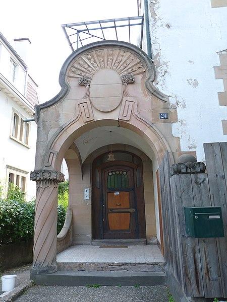 Photo du Monument Historique Villa Faist situé à Strasbourg