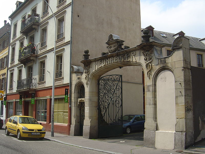 Photo du Monument Historique Ancien magasin Neunreiter, actuellement centre européen d'actions artistiques contemporains (CEAAC) situé à Strasbourg