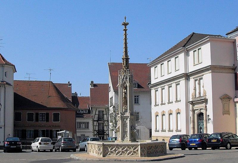 Photo du Monument Historique Fontaine de la Vierge situé à Altkirch