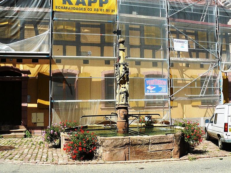 Photo du Monument Historique Fontaine gothique situé à Beblenheim