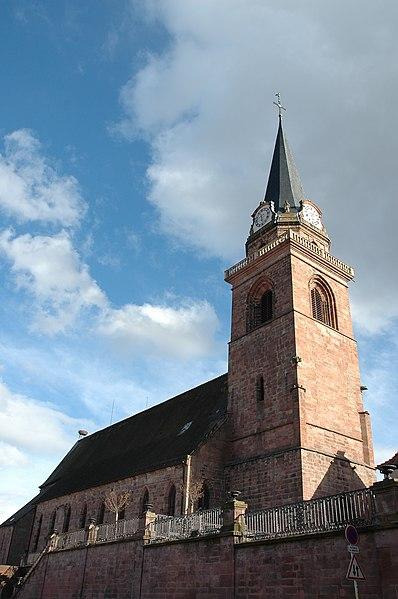 Photo du Monument Historique Eglise catholique de l'Assomption de la Bienheureuse Vierge Marie situé à Bergheim