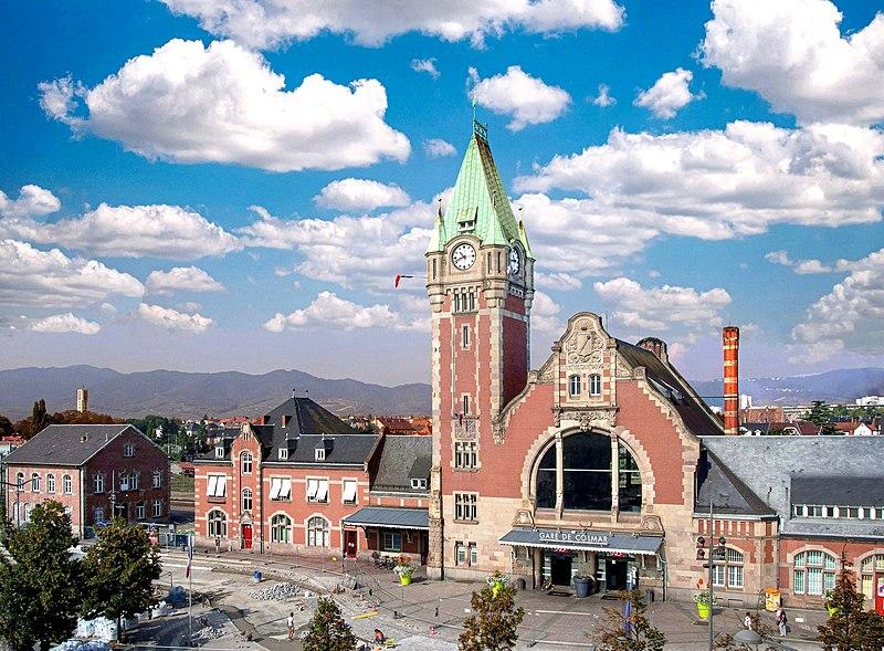 Photo du Monument Historique Gare centrale des voyageurs situé à Colmar