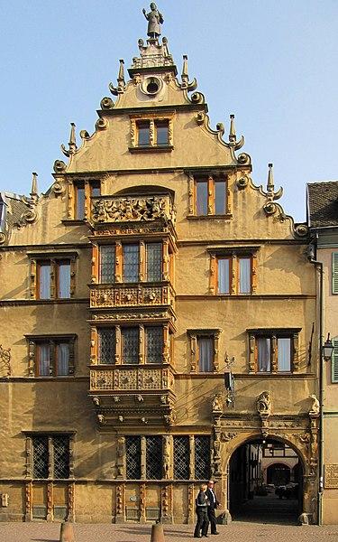 Photo du Monument Historique Maison des Têtes situé à Colmar