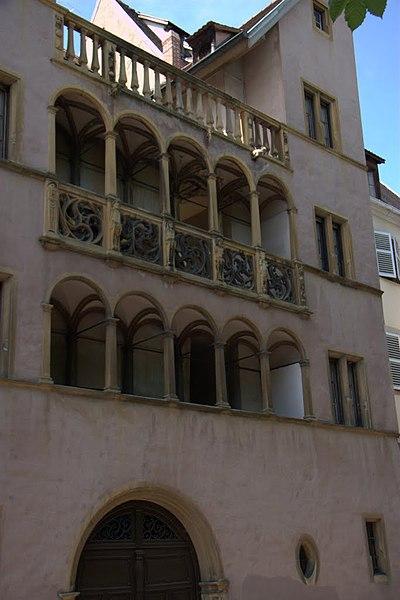 Photo du Monument Historique Maison Saint-Jean situé à Colmar