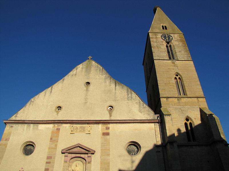 Photo du Monument Historique Eglise catholique Saints-Pierre-et-Paul situé à Eguisheim