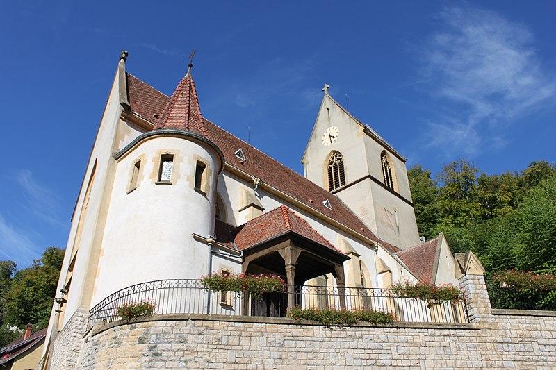 Photo du Monument Historique Eglise catholique Saint-Bernard-de-Menthon situé à Ferrette