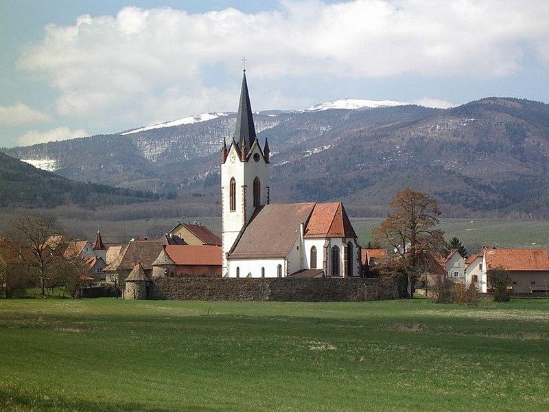 Photo du Monument Historique Cimetière fortifié situé à Hartmannswiller