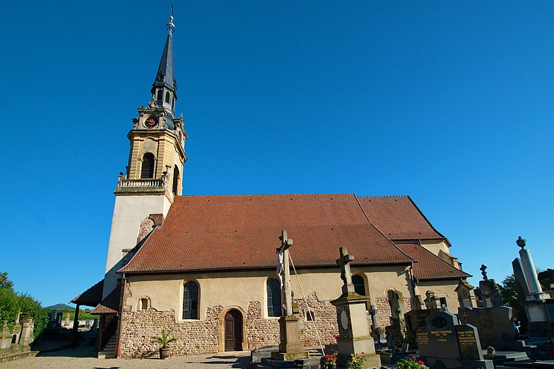 Photo du Monument Historique Eglise catholique Sainte-Colombe situé à Hattstatt