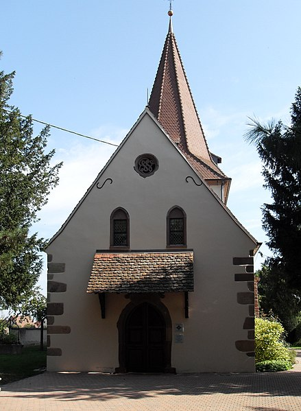 Photo du Monument Historique Eglise mixte de Wihr-en-Plaine situé à Horbourg-Wihr