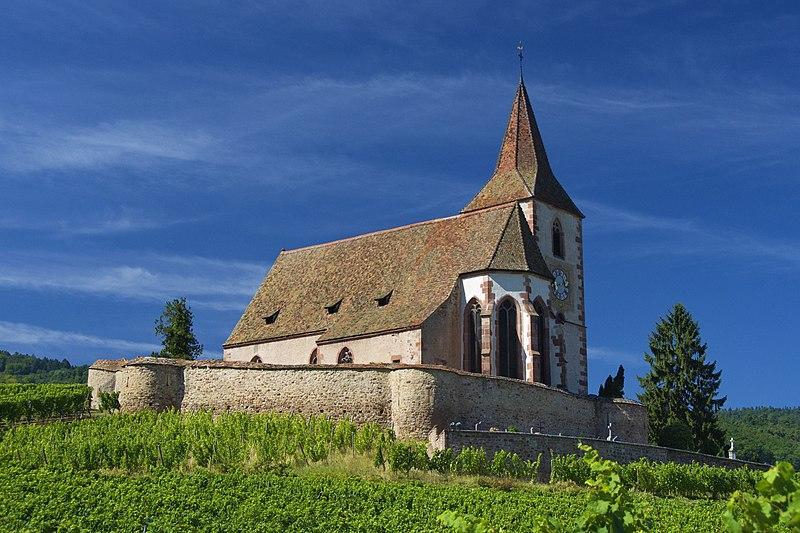 Photo du Monument Historique Eglise mixte Saint-Jacques-le-Majeur et son enceinte fortifiée situé à Hunawihr