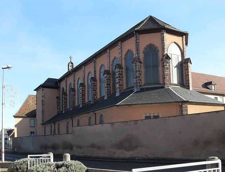Photo du Monument Historique Ancienne préceptorerie des Antonins, actuellement Maison Saint-Michel situé à Issenheim