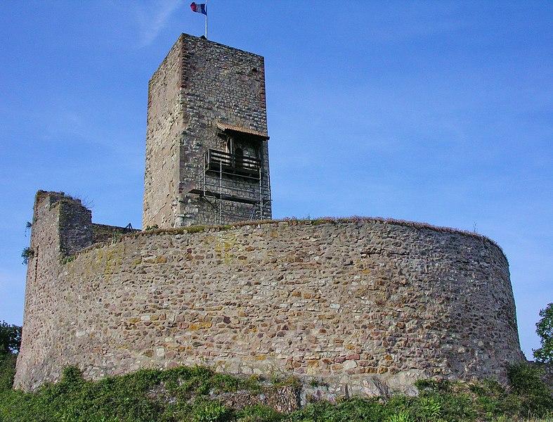 Photo du Monument Historique Château de Wineck situé à Katzenthal