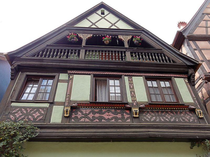 Photo du Monument Historique Maison Hoffner (ou Haffner) situé à Kaysersberg