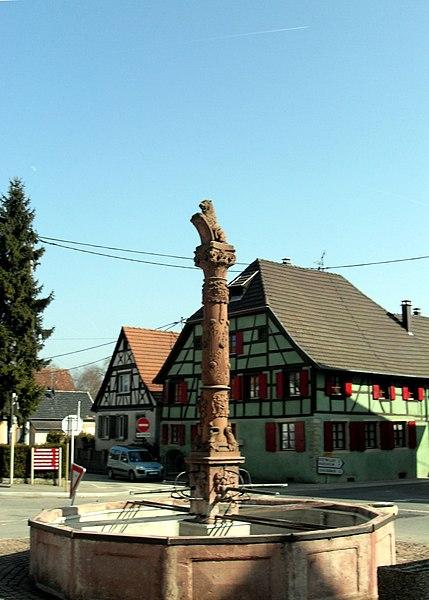 Photo du Monument Historique Fontaine publique situé à Landser