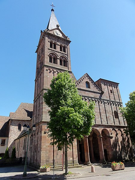 Photo du Monument Historique Eglise catholique Saint-Jean-Baptiste situé à Lautenbach