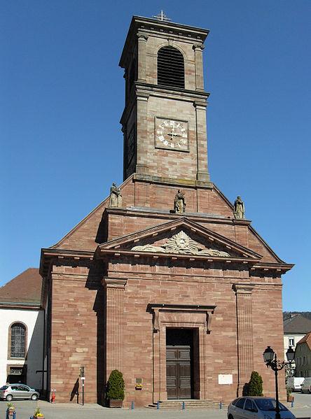Photo du Monument Historique Eglise catholique Saint-Martin situé à Masevaux