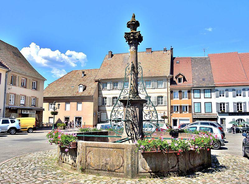 Photo du Monument Historique Fontaine situé à Masevaux