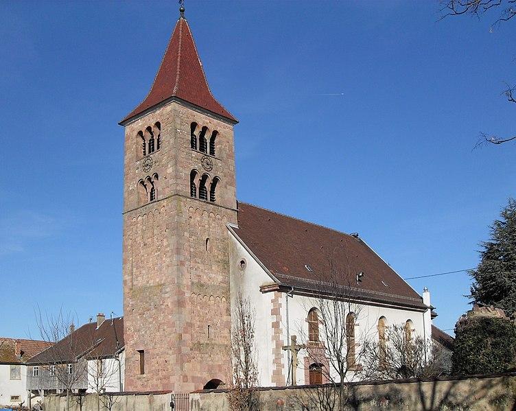 Photo du Monument Historique Eglise catholique Saints-Pierre-et-Paul situé à Merxheim
