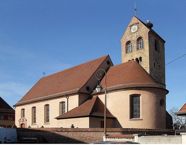 Photo du Monument Historique Eglise catholique Saints-Pierre-et-Paul situé à Meyenheim