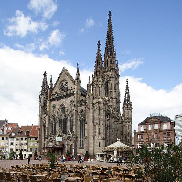 Photo du Monument Historique Temple réformé Saint-Etienne situé à Mulhouse
