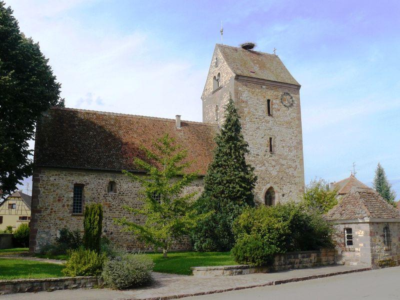 Photo du Monument Historique Eglise protestante situé à Muntzenheim