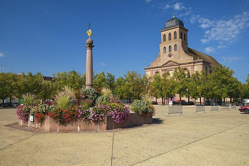 Photo du Monument Historique Place d'Armes Général-de-Gaulle (anciennement Place Centrale) situé à Neuf-Brisach