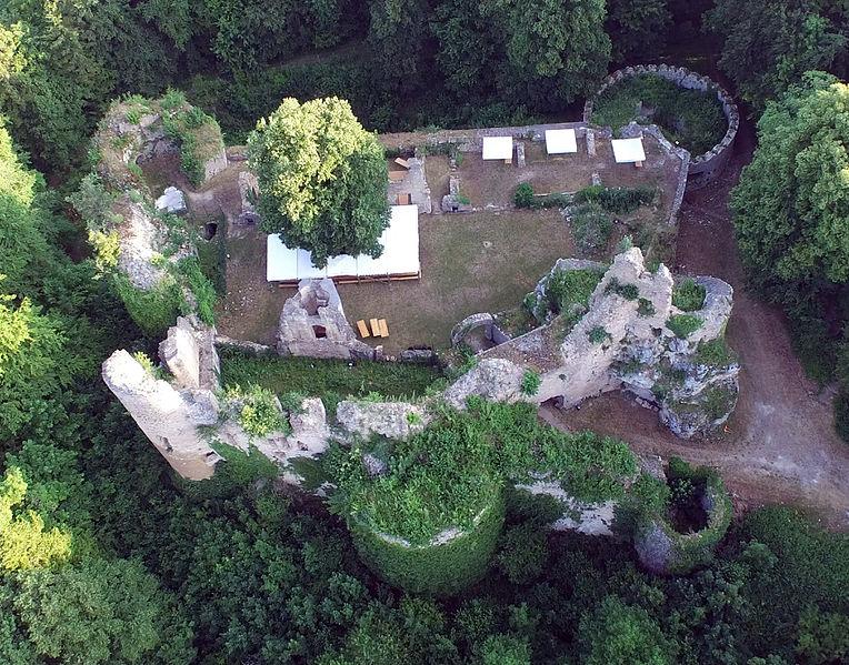 Photo du Monument Historique Ruines du château de Morimont situé à Oberlarg