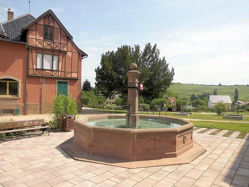 Photo du Monument Historique Fontaine situé à Orschwihr