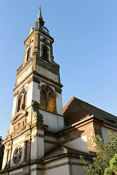 Photo du Monument Historique Eglise catholique Saint-Etienne situé à Réguisheim
