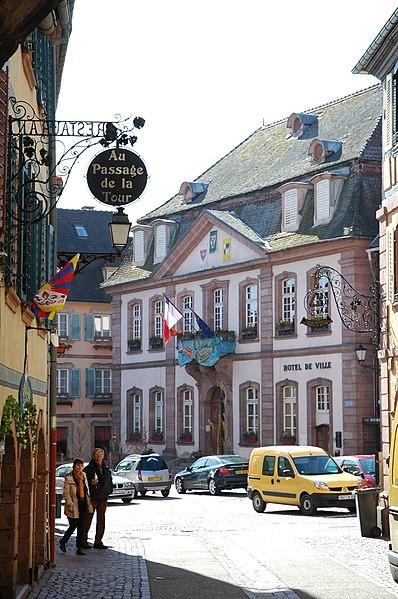 Photo du Monument Historique Hôtel de ville situé à Ribeauvillé