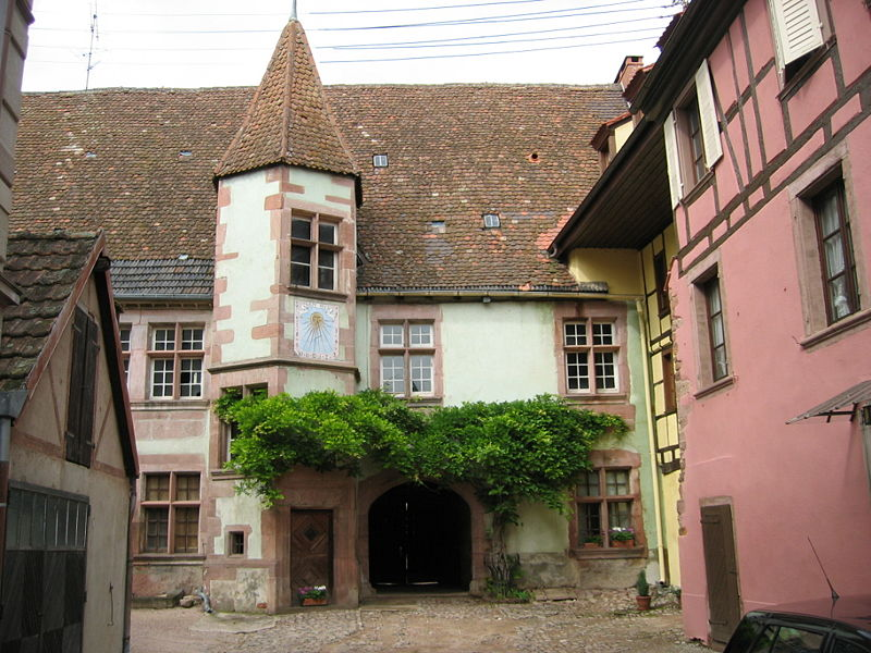 Photo du Monument Historique Ancien Hôtel de Berkheim situé à Riquewihr