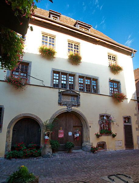 Photo du Monument Historique Ancienne demeure du gourmet Conrad Ortlieb dite maison Kiener situé à Riquewihr
