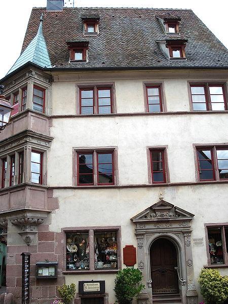 Photo du Monument Historique Ancienne maison d'Ambroise Dieffenbach situé à Riquewihr